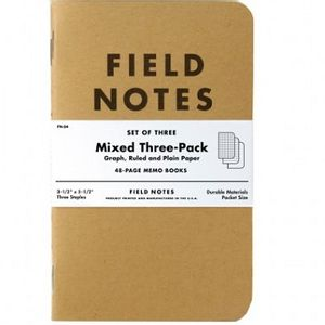 Field Notes Mixed  Memo Books - 3 Pack