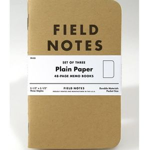 Field Notes Plain Paper Memo Books - 3 Pack