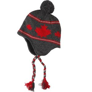 Crown Cap Unisex Canadiana Lambswool Knit Cap - Charcoal