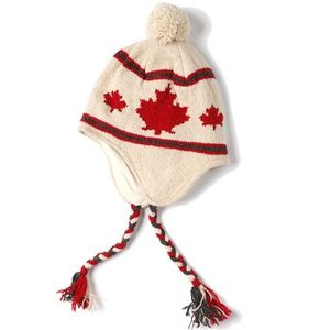 Crown Cap Unisex Canadiana Lambswool Knit Cap - Ivory