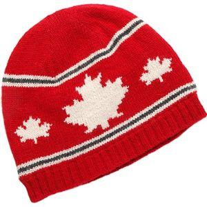 Crown Cap Unisex Canadiana Lambswool Toque - Red