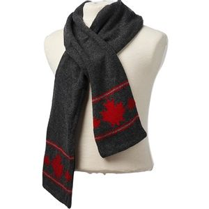 Crown Cap Canadiana Lambswool Scarf - Charcoal