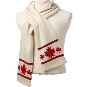 Crown Cap Canadiana Lambswool Scarf - Ivory