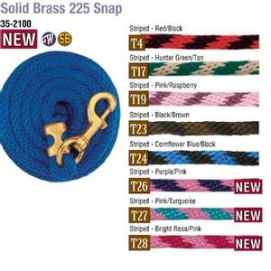 Weaver Poly Lead Rope with Solid Brass Snap - T4