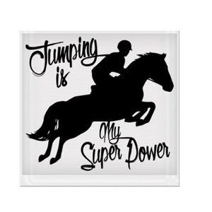 Jumping is My Super Power Vinyl Sticker