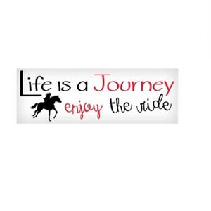 Life is a Journey Enjoy the Ride Vinyl Sticker