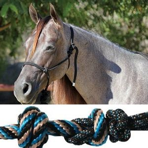 Professional's Choice Rope Halter - Black/Turquoise