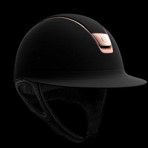 Samshield Miss Shield Shadowmatt Helmet - Black & Rose Gold