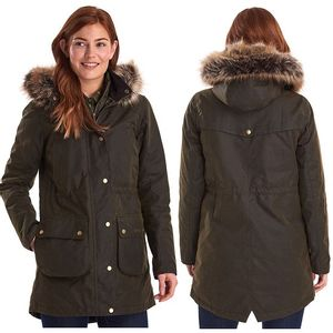 Barbour Women's Thrunton Wax Jacket - Olive
