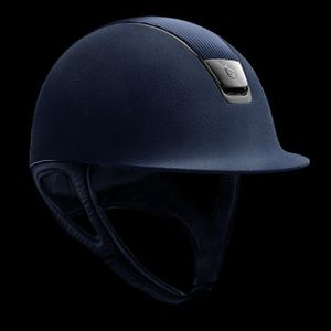 Samshield Premium Leather Top Helmet - Blue