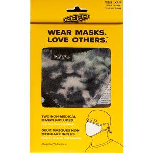 Keen Together Face Mask 2 Pack - Black Tie Dye