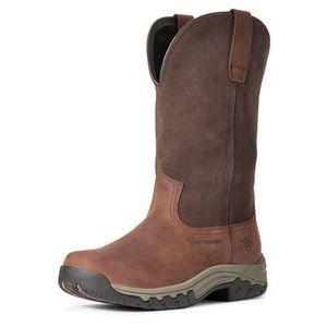 Ariat Women's Terrain H20 Pull on Boot - Dark Brown