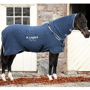 Rambo Microfiber Drying Blanket - Navy/Silver