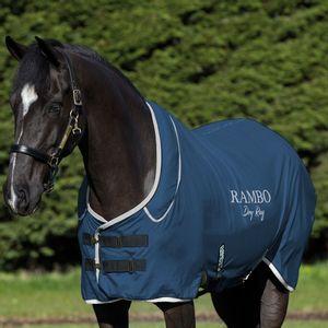 Rambo Fleece Drying Blanket - Navy/Silver
