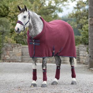 Rambo Cozy Fleece Cooler- Burgundy/Burgundy, Teal & Navy