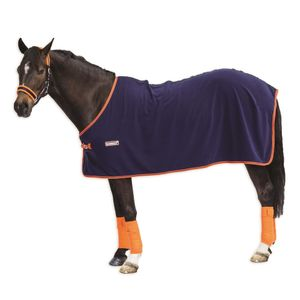 Loveson Fleece Cooler - Navy/Orange
