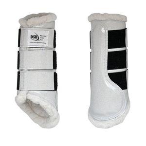 DSB Glossy Dressage Sport Boots - Pearl Glitter/White