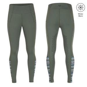 Kerrits Womens Thermo Tech Full Leg Riding Tights - Cypress