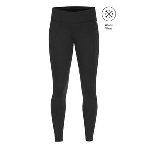 Kerrits Womens Fleece Lite Knee Patch Riding Tights - Black