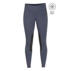 Kerrits Womens Fleece Lite Knee Patch Riding Tights - Blue Shadow
