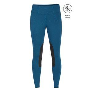 Kerrits Womens Fleece Lite Knee Patch Riding Tights - Kodiak