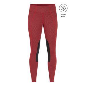 Kerrits Womens Fleece Lite Knee Patch Riding Tights - Poppy