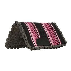 Weaver Scalloped Navajo Pony Saddle Pad - Pink
