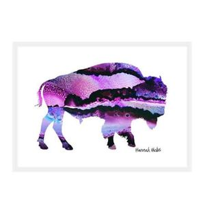 Hannah Hicks Art Card - Bison