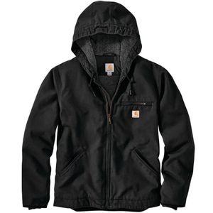 Carhartt Men's Washed Duck Sherpa Lined Jacket - Black