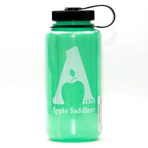 Nalgene  32oz Wide Mouth Water Bottle with Apple Saddlery Logo - Glow in The Dark