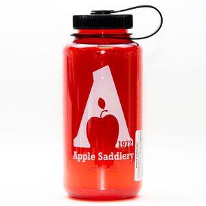 Nalgene  32oz Wide Mouth Water Bottle with Apple Saddlery Logo - Red