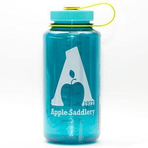 Nalgene  32oz Wide Mouth Water Bottle with Apple Saddlery Logo - Cerulean