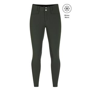Kerrits Women's 3-Season Tailored Knee Patch Breech - Evergreen