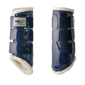 DSB Glossy Dressage Sport Boots - Navy/White