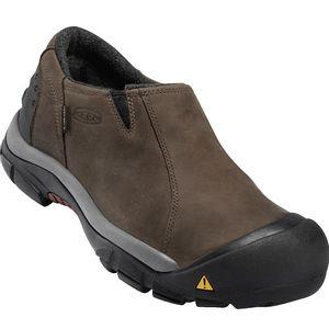 Keen Men's Brixen Low Waterproof Shoe - Black/Madden Brown
