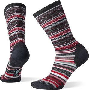 Smartwool Women's Ethno Graphic Crew Socks - Charcoal