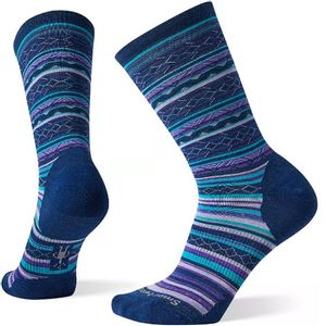 Smartwool Women's Ethno Graphic Crew Socks - Alpine Blue