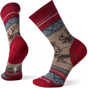 Smartwool Men's Reindeer Crew Socks - Tibetan Red