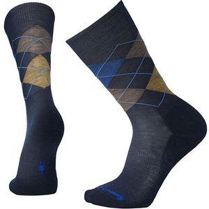 Sartwool Men's Diamond Jim Crew Socks - Deep Navy Heather/Desert Sand Heather