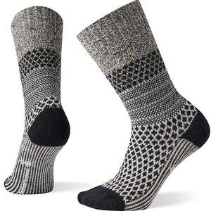 Smartwool Women's Popcorn Cable Crew Socks - Black/Multi
