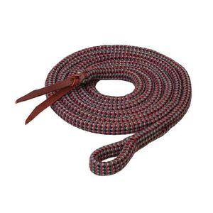 Weaver EcoLuxe Bamboo Lead 12.5' - Charcoal/Indigo/Dark Red/Black