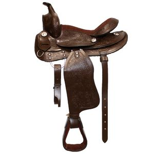 New Tooled Leather Pony Trail saddle 12""