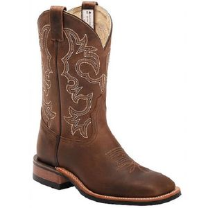 "Canada West Men's 8568 11"" Brahma Ranchman Roper Boots - Alamo Tan"