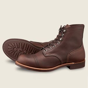 """Red Wing Men's Iron Ranger 6"""" Boots - Amber"""