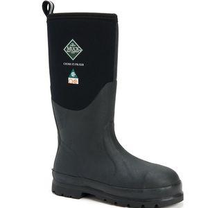 Muck Boots Men's Chore Hi Steel Toe Boots - Black