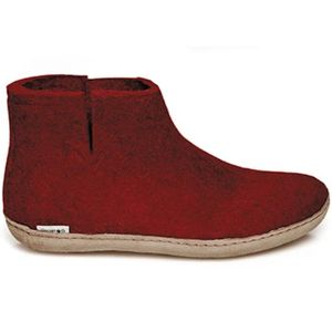 Glerups Unisex Boot with Leather Sole - Red
