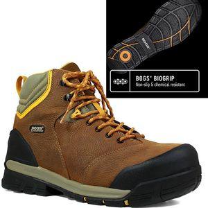 "Bogs Men's Bedrock CSA 6"" Composite Toe Boots - Brown"