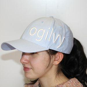 Ogilvy Equestrian Hat - Carolina Oxford/White