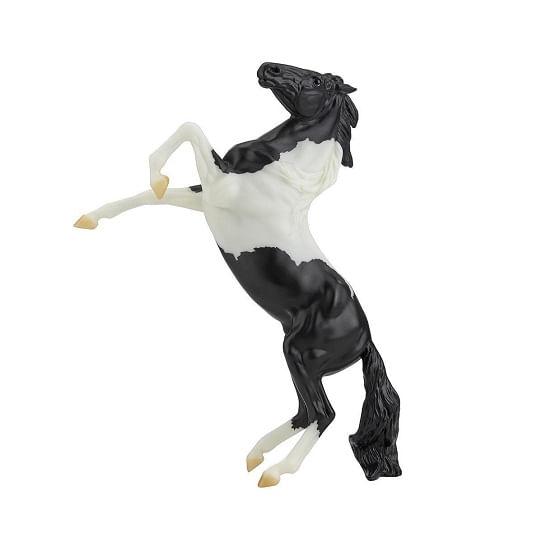 breyer-black-paint-rearing-mustang
