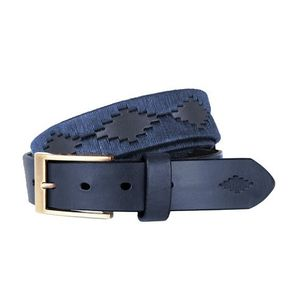 Pampeano Premium Navy Label Belt